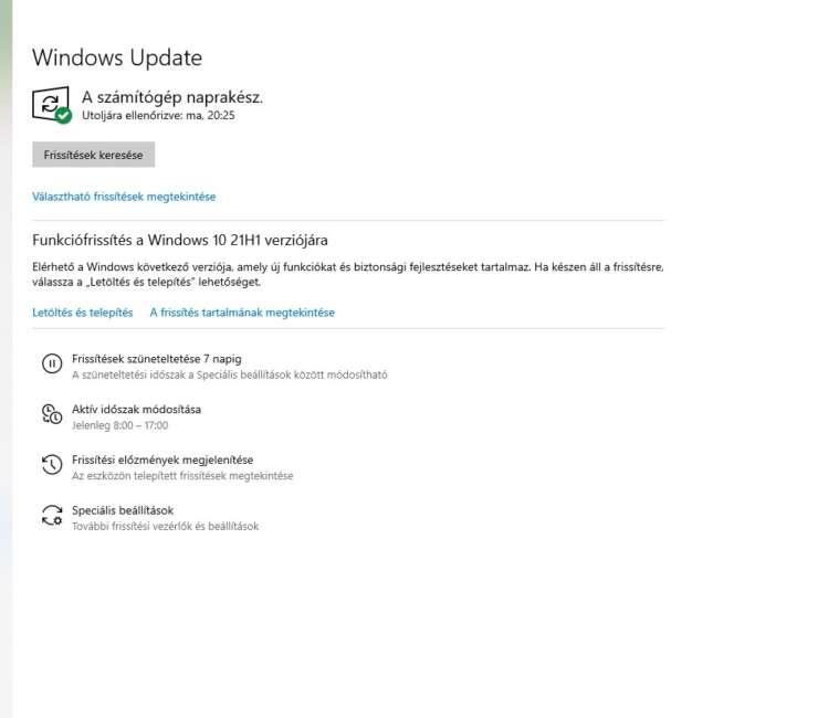 Már letölthető a Windows 10 21H1 funkciófrissítése
