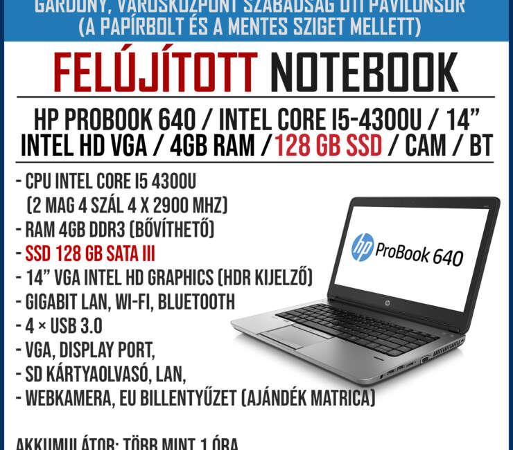 Felújított notebookok érkeztek!